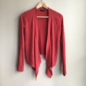 Gap Open Front Sweater Cardigan cotton sx XS Red